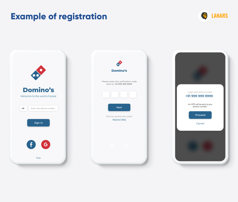 Convenient registration process